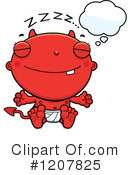 Baby Devil Clipart #1207825 by Cory Thoman