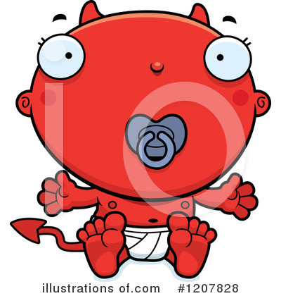 Devil Baby Clipart #1207828 by Cory Thoman