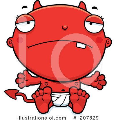 Devil Baby Clipart #1207829 by Cory Thoman