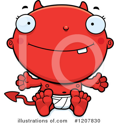 Devil Baby Clipart #1207830 by Cory Thoman