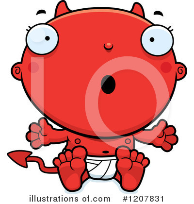 Devil Baby Clipart #1207831 by Cory Thoman