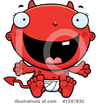 Devil Baby Clipart #1207832 by Cory Thoman