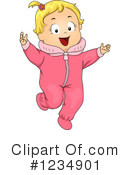 Baby Girl Clipart #1234901 by BNP Design Studio
