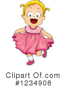 Royalty-Free (RF) Baby Girl Clipart Illustration #1234908