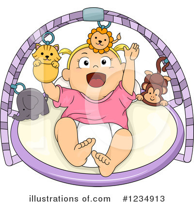 Baby Girl Clipart #1234913 by BNP Design Studio