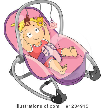 Baby Girl Clipart #1234915 by BNP Design Studio