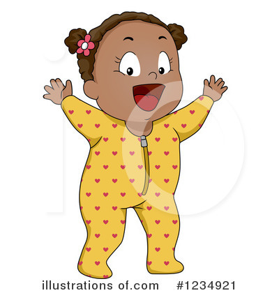 Royalty-Free (RF) Baby Girl Clipart Illustration by BNP Design Studio - Stock Sample #1234921