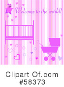 Royalty-Free (RF) Baby Girl Clipart Illustration #58373