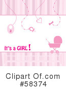 Baby Girl Clipart #58374 by MilsiArt
