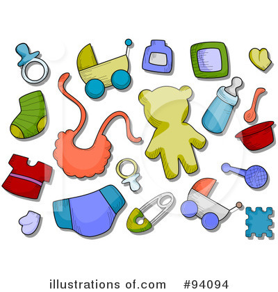 Baby Items Clipart #94094 by BNP Design Studio | Royalty-Free (RF