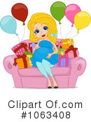 Royalty-Free (RF) Baby Shower Clipart Illustration #1063408