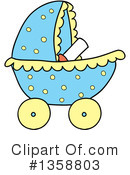 Baby Stroller Clipart #1358803 by LaffToon