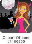 Royalty-Free (RF) Bachelorette Party Clipart Illustration #1106805
