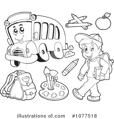 Back To School Clipart #1077518 by visekart | Royalty-Free (RF) Stock