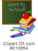 Royalty-Free (RF) Back To School Clipart Illustration #213854