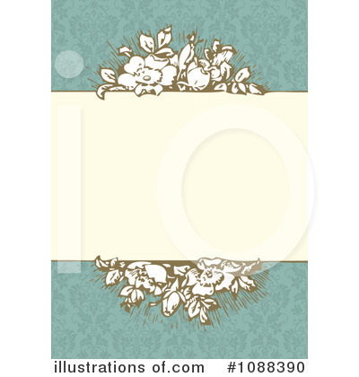 Floral Invite Clipart #1088390 by BestVector