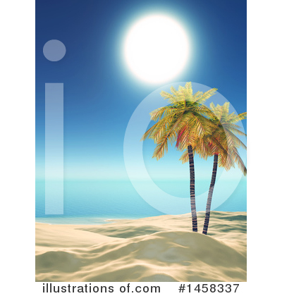 Tropical Beach Clipart #1458337 by KJ Pargeter