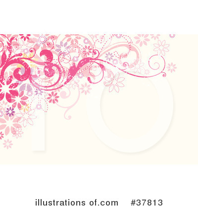 Floral Background Clipart #37813 by OnFocusMedia