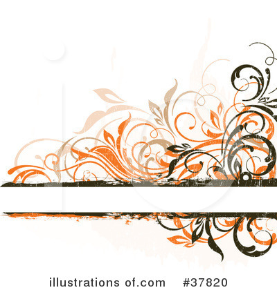 Floral Background Clipart #37820 by OnFocusMedia