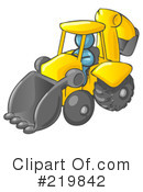 Backhoe Clipart #219842 by Leo Blanchette