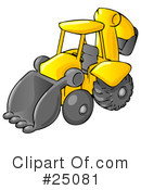Royalty-Free (RF) Backhoe Clipart Illustration #25081