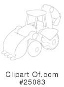 Backhoe Clipart #25083 by Leo Blanchette