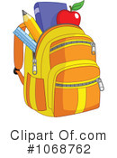 Royalty-Free (RF) Backpack Clipart Illustration #1068762