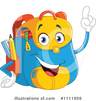 Royalty-Free (RF) Backpack Clipart Illustration by yayayoyo - Stock Sample #1111656