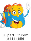 Royalty-Free (RF) Backpack Clipart Illustration #1111656