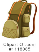 Royalty-Free (RF) Backpack Clipart Illustration #1118085