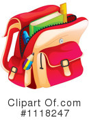 Royalty-Free (RF) Backpack Clipart Illustration #1118247