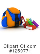 Royalty-Free (RF) Backpack Clipart Illustration #1259771
