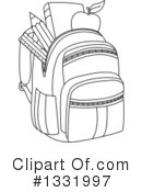 Royalty-Free (RF) Backpack Clipart Illustration #1331997