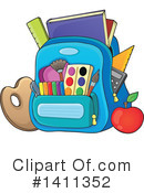 Royalty-Free (RF) Backpack Clipart Illustration #1411352