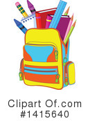 Royalty-Free (RF) Backpack Clipart Illustration #1415640