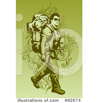Royalty-Free (RF) Backpacker Clipart Illustration by mayawizard101 - Stock Sample #92674