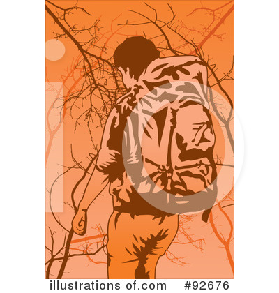 Royalty-Free (RF) Backpacker Clipart Illustration by mayawizard101 - Stock Sample #92676