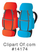 Royalty-Free (RF) Backpacks Clipart Illustration #14174