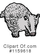 Badger Clipart #1159618 by lineartestpilot