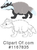 Badger Clipart #1167835 by Alex Bannykh