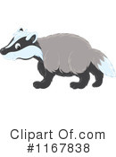 Royalty-Free (RF) Badger Clipart Illustration #1167838