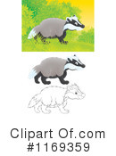Badger Clipart #1169359 by Alex Bannykh