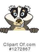 Badger Clipart #1272867 by Dennis Holmes Designs