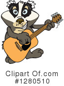 Badger Clipart #1280510 by Dennis Holmes Designs