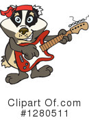 Badger Clipart #1280511 by Dennis Holmes Designs