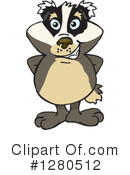 Badger Clipart #1280512 by Dennis Holmes Designs