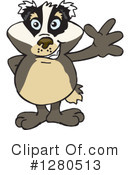 Badger Clipart #1280513 by Dennis Holmes Designs
