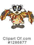 Badger Clipart #1286877 by Dennis Holmes Designs