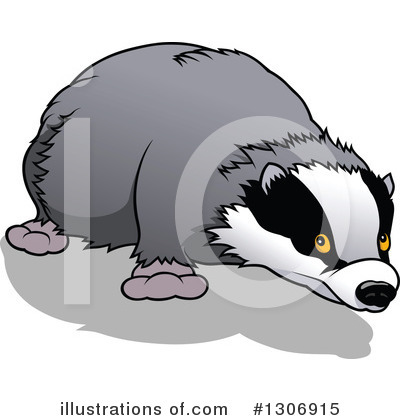 Royalty-Free (RF) Badger Clipart Illustration by dero - Stock Sample #1306915