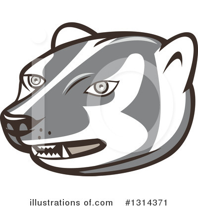 Badger Clipart #1314371 by patrimonio